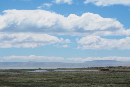La réserve ornithologique, au bord du lago Argentino. En plein vent! El Calafate
