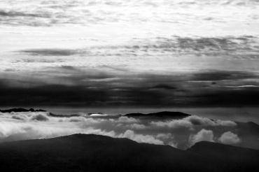 Les sommet du Royans ; au fond à gauche, la montagne de l'Epenet, à droite la montagne de Musan, devant petite et grande Cournouse.