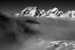 Mt Cook depuis Tasman Glacier.