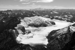 Glacier Dome 2350m et Volta Glacier.
