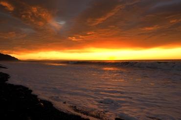 sunrise, près de Kaikoura