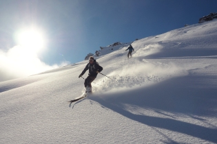 Backcountry in Treble Cone avec Bill et Andy
