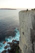 Ici l'accès ce fait par le haut, c'est une succession de mur, fissure, pilier.